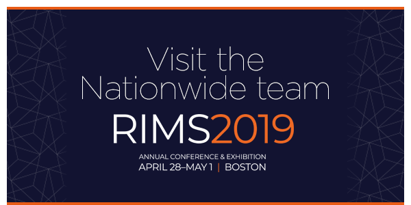 Visit the Nationwide team RIMS 2019 Annual Conference & Exhibition April 28 ��� May 1 | Boston